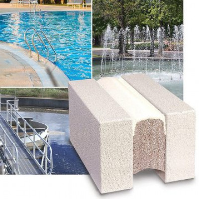 Immersed expansion joint for pools water features fountains Submerseal from EMSEAL