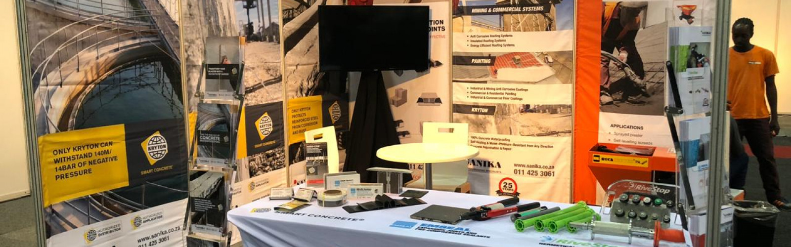 Image of Sanika Waterproofing Specialists exhibit at the KZN Construction Expo 2019