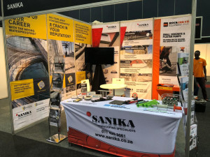 Photo of Sanika Waterproofing Specialists exhibit at the KZN Construction Expo 2019